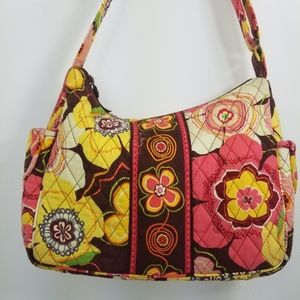 Vera Bradley On The Go quilted floral adjustable
